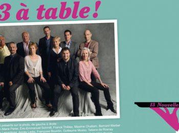 «13 à table» les écrivains se mobilisent pour les Restos du cœur à travers un ouvrage